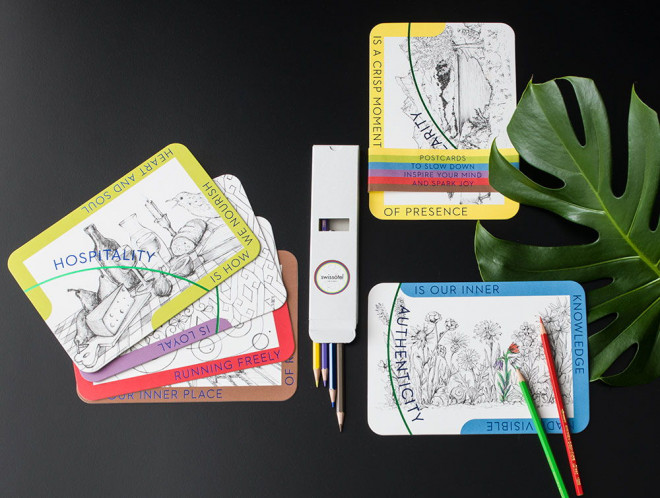 Mindfulness cards & Caran d'Ache pencil Set