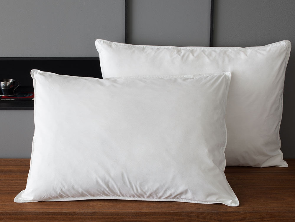 Pillows. 500 Thread Count Legacy Pillow. Calvin Klein Tossed Logo Print Density Down Alternative ...